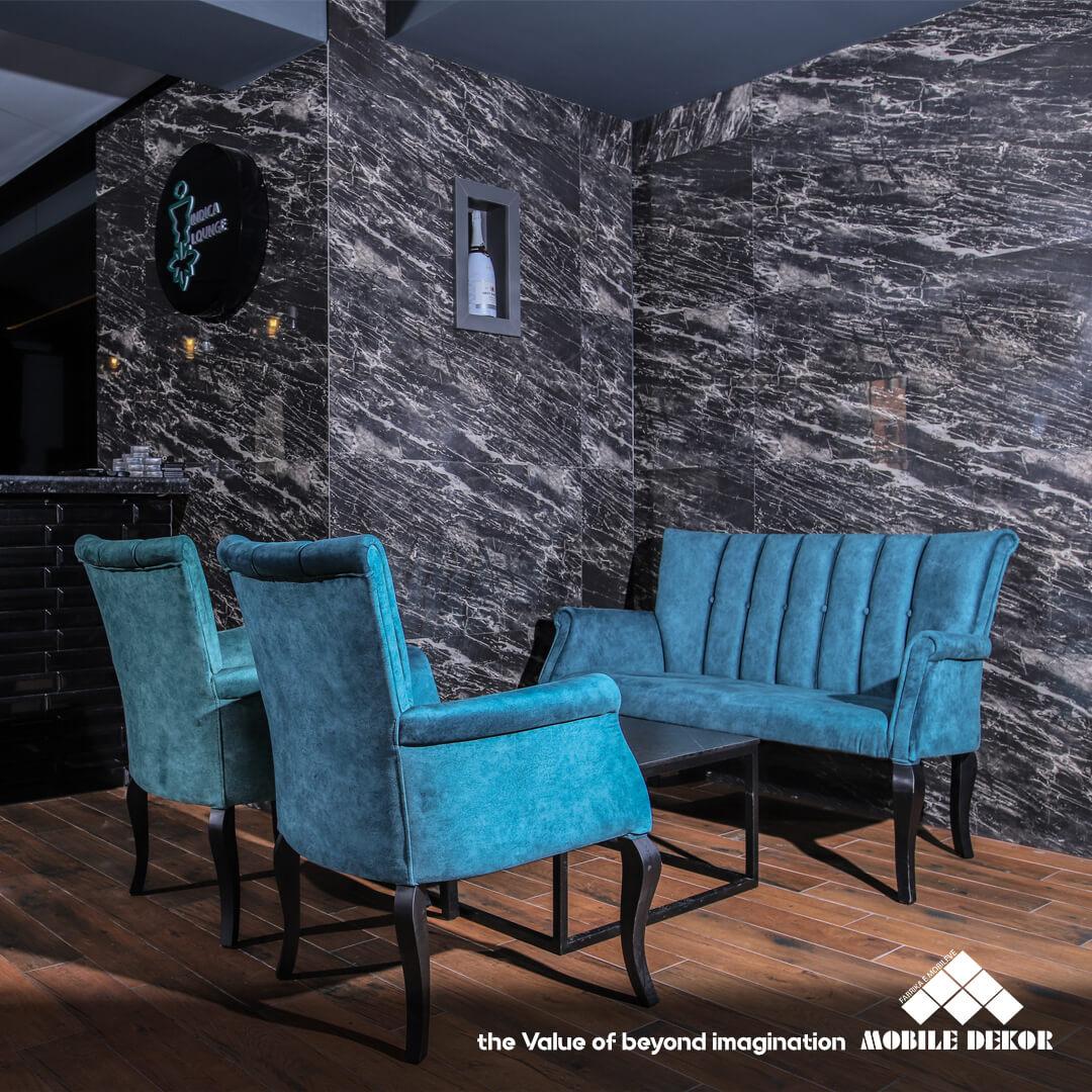 designer furniture in blue by mobiledekor